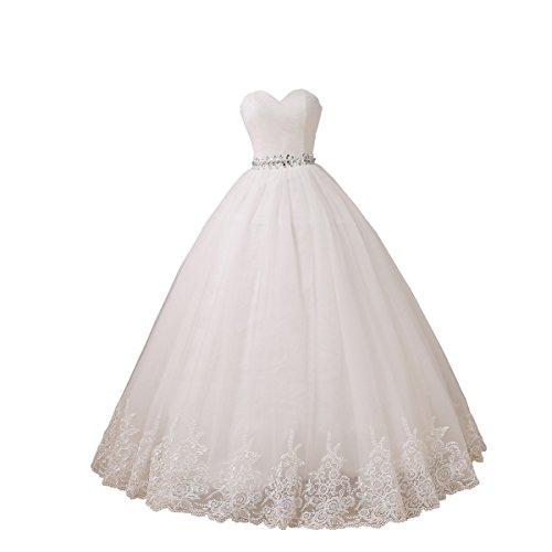 YIPEISHA Wedding Dress Sweetheart Tulle Wedding Dresses for Bridal Plus Size Ball Gowns 20W Ivory