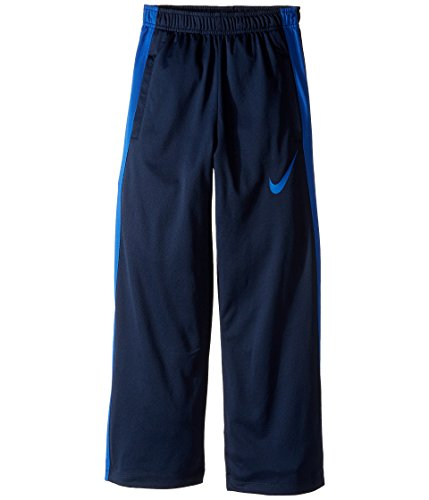 NIKE Boys' Dry Performance Knit Pants, Obsidian/Game Royal/Game Royal, Small