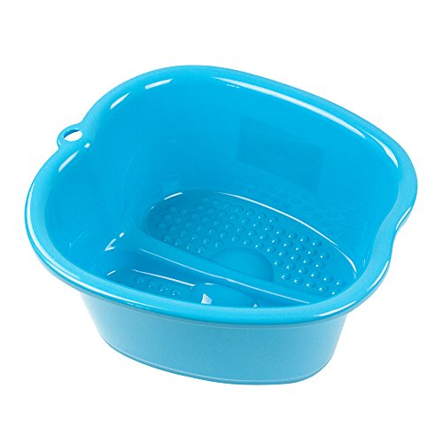 DRESHah Large Aqua Foot Bath Spa Tub - Thick Sturdy Plastic Pedicure Spa and Massager for Soaking Feet, Toenails, and Ankles with Epsom Salts or Essential Oils. Helps with Callus, Fungus and Dead Skin ()