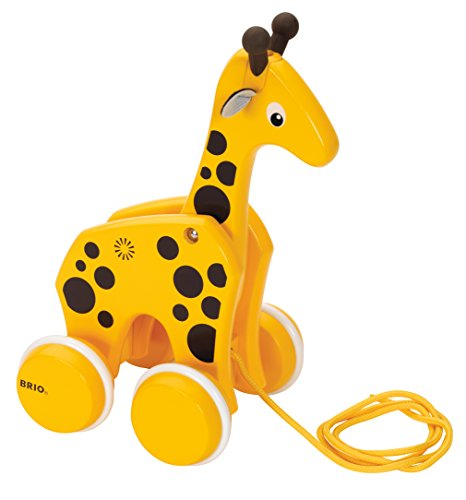 - BRIO World - 30200 Pull Along Giraffe | The Perfect Playmate for Your Toddler