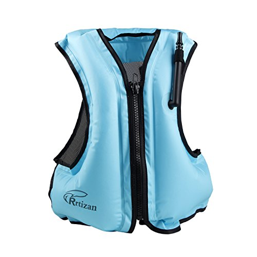 Rrtizan Adult Inflatable Swim Vest Life Jacket For Snorkelin