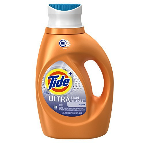 Tide Ultra Laundry Detergent - Tide Ultra Stain Release HE Turbo Clean Liquid Laundry Detergent, 46 Fluid Ounce (24 Loads), 2 Count by Tide