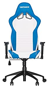 Vertagear VG-SL2000 Asiento Acolchado Respaldo Acolchado - Silla (Asiento Acolchado, Respaldo Acolchado, Azul, Blanco, Azul, Blanco, Imitación Piel, Imitación Piel)