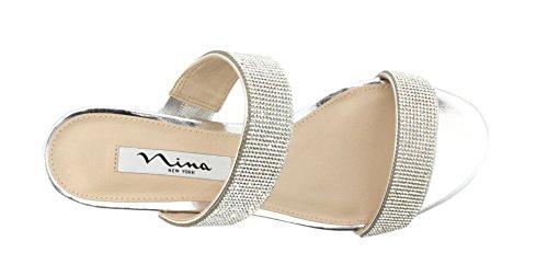 Nina New York Ciabatta GEORGEA Silver Taglia 37 - Colore Argento aHgnlZVV1B