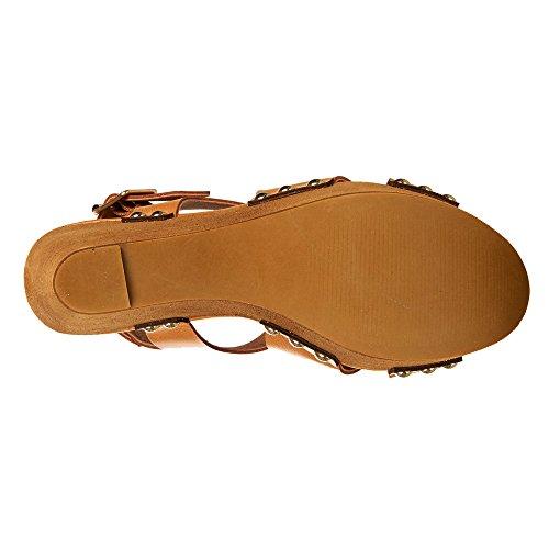 Fergalicious - Sandalias de vestir para mujer marrón (TAN SYNTHETIC LEATHER)