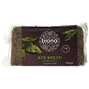 Biona Rye and Hemp Seed Bread, 500 g
