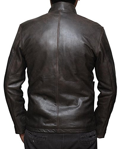 Han Solo Leather Jacket Cosplay - Star Wars Jacket Mens Gifts (XL) [RL-HNSO-BR-XL] by BlingSoul (Image #2)