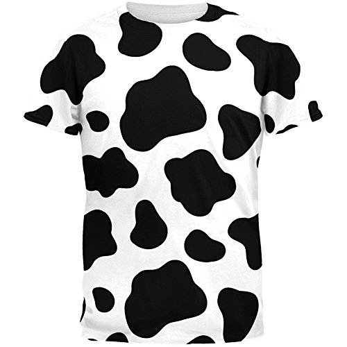Old Glory Cow Pattern Costume All Over Adult T-Shirt - (Cow Pattern)