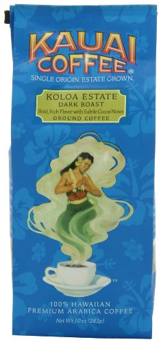 Kauai Coffee, Koloa Estate Dark Roast Ground, 10 Ounce
