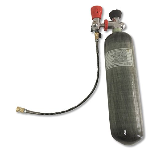 IORMAN Universal 3L 4500psi Carbon Fiber Paintball Air Tank & Fill Station with Valve Gauge for PCP Game