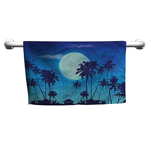 Twilight Full Face - alisoso Dark Blue,Face Towels Child Full Moon Twilight Scene W 10