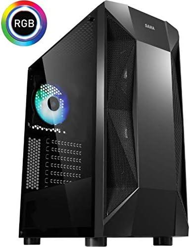 Centaurus Andromeda A4 Gaming Computer – AMD Ryzen 5 3600 Six Core 4.0GHz OC, 16GB DDR4 RAM, Radeon RX 5700 XT 8GB, 500GB SSD 2TB HDD, Windows 10 Pro, WiFi. Custom PC with Overclocked CPU