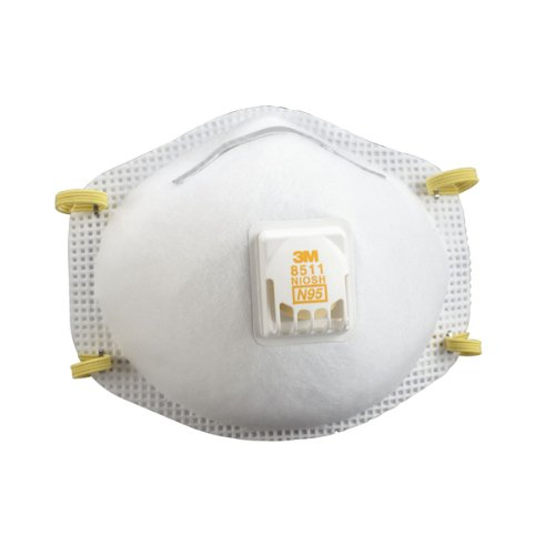 3M 8511 Particulate N95 Respirator with Valve-80 Count Pack (With Valve) by 3M