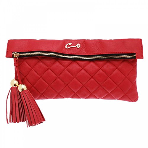Red Quilted Long Clutch Cats Women's Handbag qPwXWxppOg