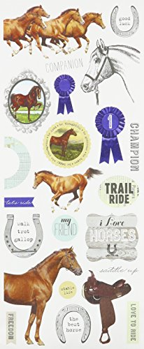 me & my BIG ideas mambiSTICKS Stickers, Champion Horses