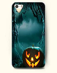 All Hallows' Evening - OOFIT iPhone 4 4s Case Insidious Smiling Pumpkin Lantern In Scary Night