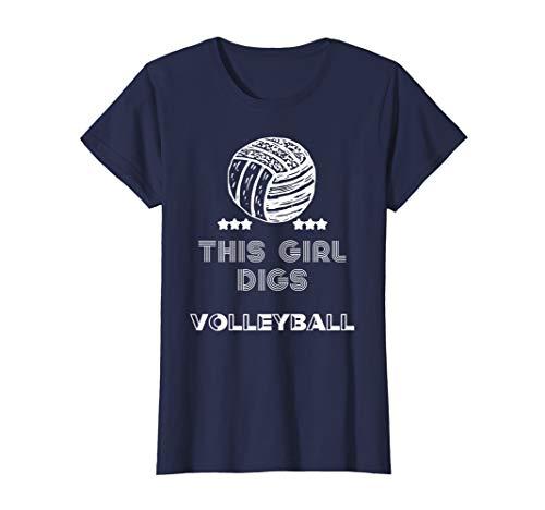 Volleyball Shirt for Teen Girls - Female Athlete Tshirt -