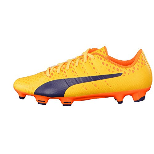 Puma Evopower Vigor 3 Fg, Botas de Fútbol para Hombre Ultra Yellow-Peacoat-Orange Clown Fish