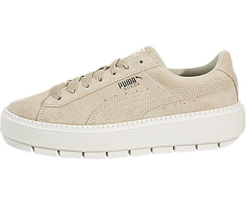 official photos 16b6a 93fdc PUMA Women's Suede Platform Trace Safari/Marshmallow 6 B US