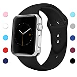 Sport Band for Apple Watch 42mm 38mm, Soft Silicone Sport Strap Replacement Bands for iWatch Apple Watch Series 3, Series 2, Series 1 S/M M/L