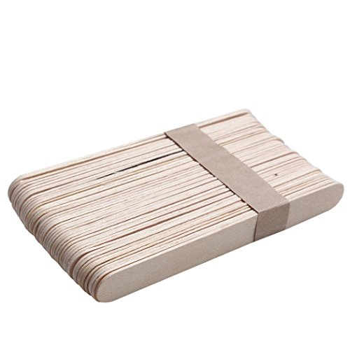 KESEE Approx 100PCS Wooden Body Hair Removal Sticks Wax Waxing Disposable Sticks