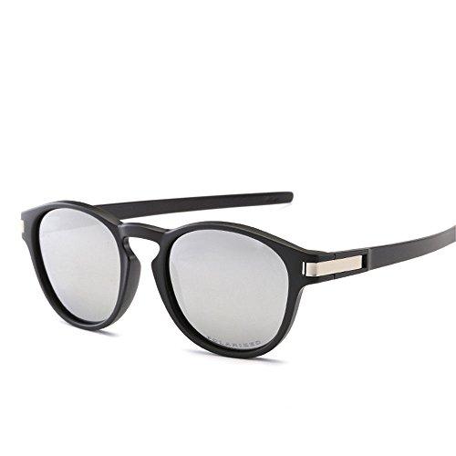 Chahua Lunettes de soleil Lunettes de soleil brillant de la mode rétro mode lunettes haute brillance, B