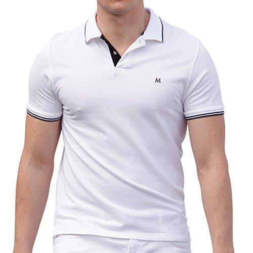 AsdruMark Herren Poloshirt, Weiss