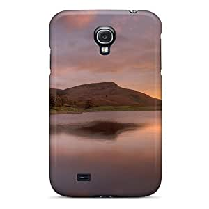 Faddish Phone Yellow Sunset On A Lake Case For Galaxy S4 / Perfect Case Cover