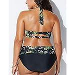 CheChury-Donna-Bikini-Taglie-Forti-a-Vita-Alta-Imbottito-Costume-da-Bagno-Due-Pezzi-Push-Up-Imbottito-Reggiseno-Spiaggia-Costumi-Mare