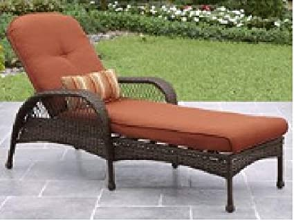 Image Unavailable. Image not available for. Color: Better Homes & Gardens*  Outdoor ... - Amazon.com: Better Homes & Gardens* Outdoor Chaise Lounge In Burnt