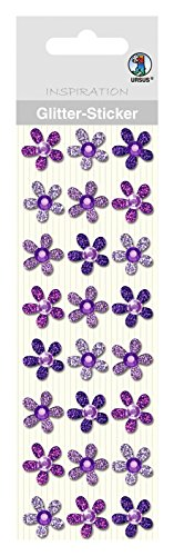 Ursus Glitter Sticker Flowers, 75000001