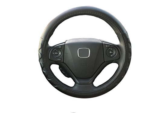 red and grey steering wheel cover - 7
