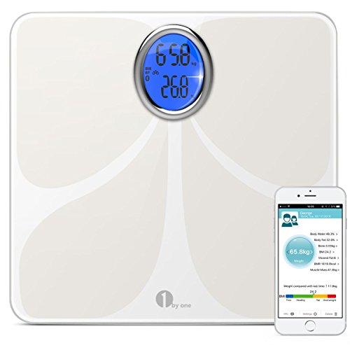 1byone-Digital-Bluetooth-Scale-Body-Fat-Scale-Body-Scale-Bathroom-Scale-with-Phone-and-Tablet-App-to-Manage-Your-Weight