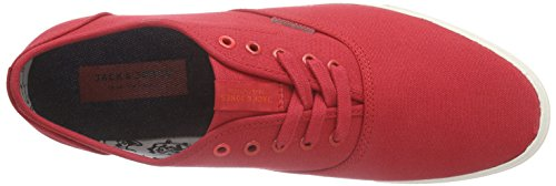 JACK & JONES Herren Jjspider Canvas Sneaker Low-Top Rot (Barbados Cherry)