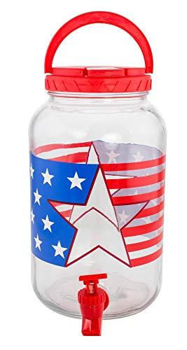 1 Gallon Patriotic Beverage Dispenser ()