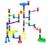 Toys : Marble Genius Marble Run Starter Set - 70 Complete Pieces + Free Instruction App (60 Translucent Marbulous Pieces + 10 Glass Marbles)