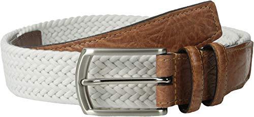 (Torino Leather Co. Men's 32MM Italian Woven Multi Cotton Elastic White 36)