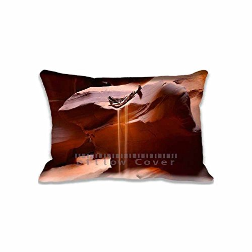 ArtsLifes Page Antelope Canyon Pillow Sham Decorative Standard Size Pillow Case Cushion Cover (Compass) (Twin (Canyon Sham)