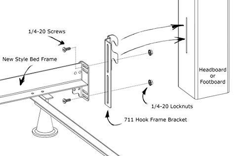Hook On Bed Frame Brackets Adapter Headboard Extra Heavy