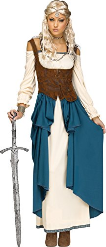 Fun World Women's Viking Queencostume, Multi, Small/Medium (Adult Viking Costumes)