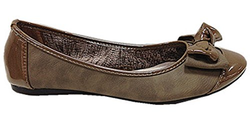 Chaussures LX mocassines B26 Femmes plat TAUPE ballerines gxIwC1zd