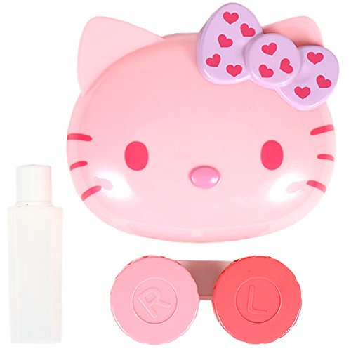 f978fd765 [Hello Kitty] Die cut contact lens case set pink - Import It All