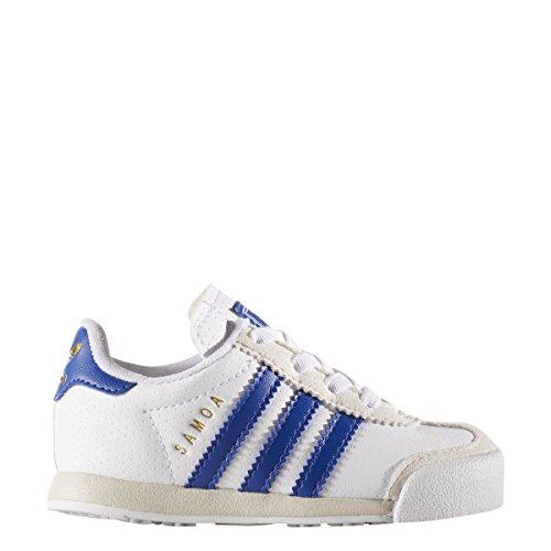 adidas Originals Boys' Samoa I Sneaker, White/Collegiate Royal/Talc, 7 Medium US Toddler