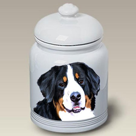 Bernese Mountain Dog Dog Cookie Jar by Barbara Van Vliet