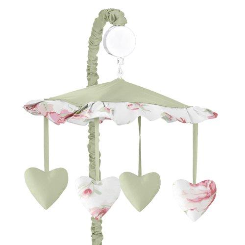 Sweet JoJo Designs Musical Baby Crib Mobile - Riley's Roses