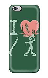 1086155K15938164 iphone 6 4.7 Hard Back With Bumper Silicone Gel Tpu Case Cover I Heart Zombies