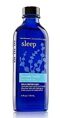 Bath & Body Works Aromatherapy Sleep Lavender Vanilla Massage Oil 4 Fl Oz