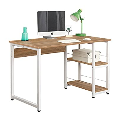 Soges Home Office Morden Style with Open Shelves Worksation Desk,Oak DZ013-120-OK -  - writing-desks, living-room-furniture, living-room - 414%2BbIg0bkL. SS400  -