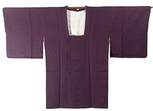 リサイクル 道行コート 正絹 紫色  裄64cm 身丈84cm