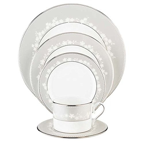 Lenox Bellina Bone China Platinum Banded 5-Piece Place Setting, Service for 1